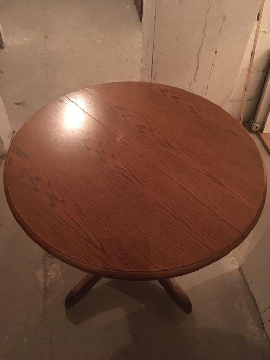 Stół z okrągłym dębowym do jadalni i salonu Olsztyn - image 1