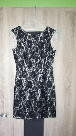 Śliczna sukienka czarna koronka bb studio rozmiar 36