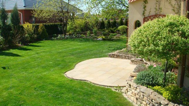Zakładanie ogrodów, Układanie kostki brukowej, Renowacja trawników