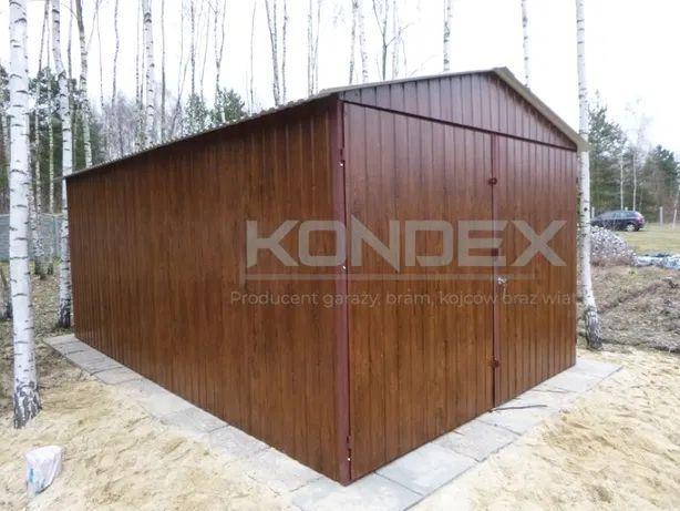 Garaż blaszany Blaszak WZMOCNIONY Różne kolory Garaże 3x5 3x6 6x5 6x6