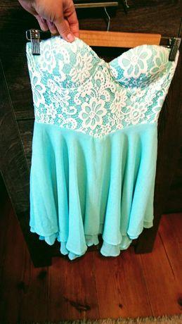 Sukienka na wesele mietowa m/l