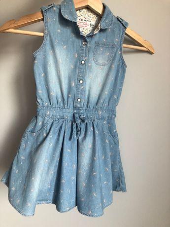 Sukienka koszulowa Reserved jeansowa dżinsowa ogrodniczka 110 zara