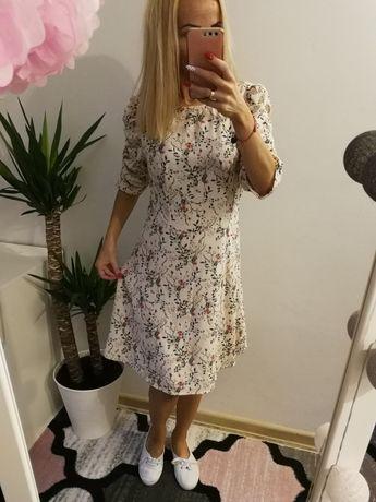 Nowa sukienka w kwiaty AMISU rozmiar L