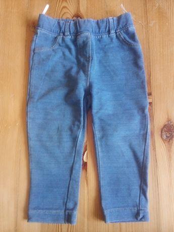 80 C&A baby club spodnie leginsy jeansowe legginsy