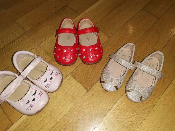 Туфлі зайчики, червоні та золоті