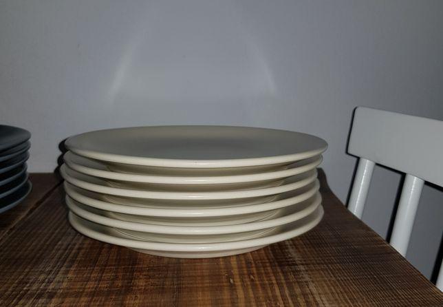 talerze płaskie średnie