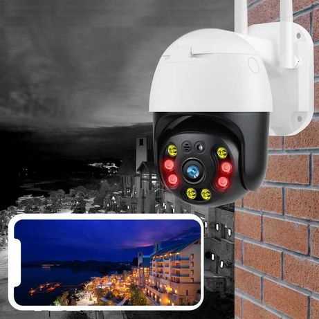 KAMERA ZEWNĘTRZNA Obrotowa IP WIFI zoom 4x IR Full HD Monitoring SD