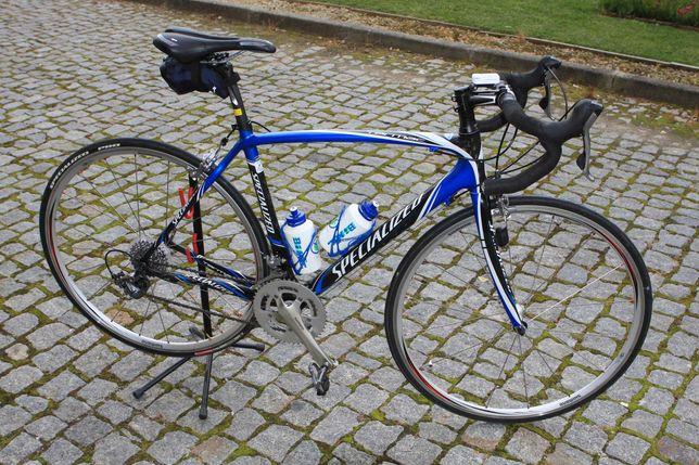 Bicicleta estrada Specialized Tarmac Elite 2009 carbono  +  extras