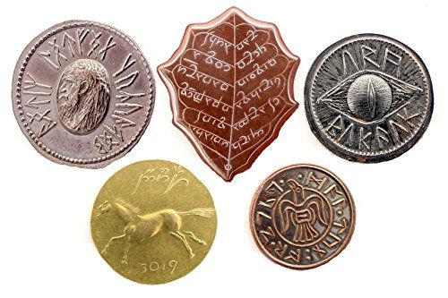 Set 5 Moedas: The Lord of the Rings Set #1 - Middle-earth