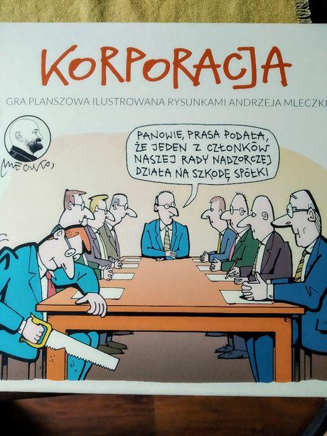 KORPORACJA - gra planszowa z ilustracjami: Andrzeja Mleczko