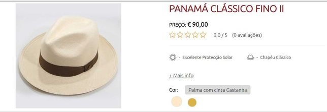 Chapéu Panamá Clássico