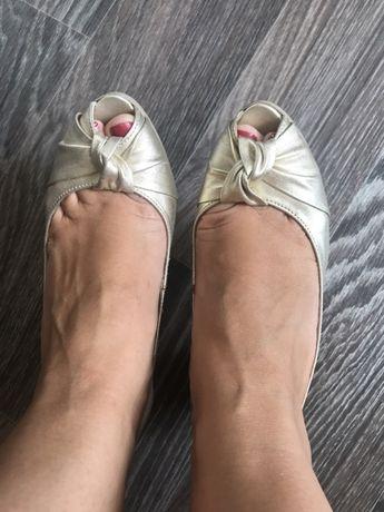 Продам красивые летние туфли, кожа, Италия!!!