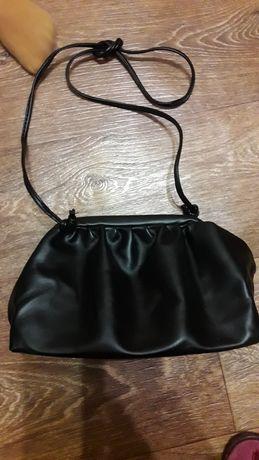 Сумка вечерняя черная Новая типа Balenciaga и Zara