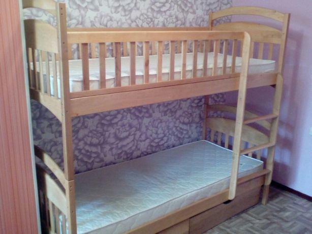Крутые скидки на двухъярусную кровать с дерева Карина - Grand
