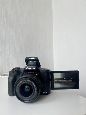 Камера Canon m-50 + обьектив EF-M15-45 Kit. Коробка+гарантия