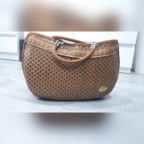 Stylowa torebka brązowa