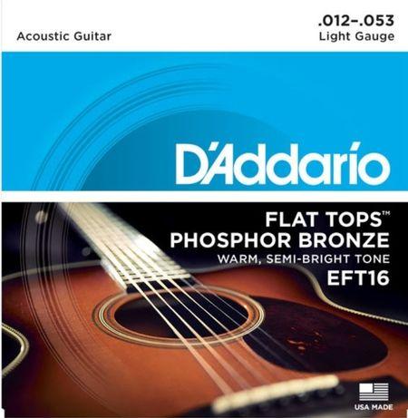 Struny do gitary akustycznej d'addario 12-53