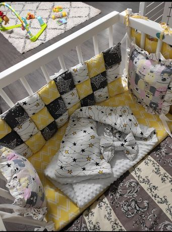 Детская кроватка маленькая белая приставная до года