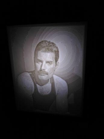Ночник- Литофан с портретом. Фредди Меркури