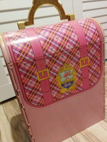 Plecak/walizka barbie domek dla lalek słodki różowy mini pałac + lalka
