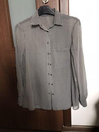 Koszula mgiełka w pepitkę jak nowa Zara Basic XS34