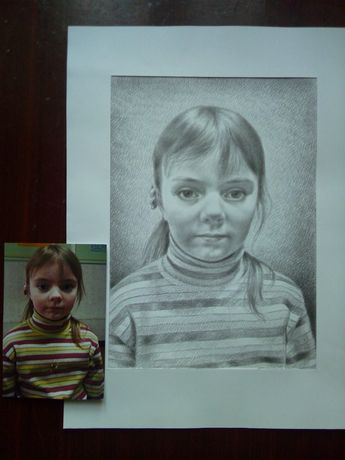 Портреты карандашом по фото на заказ!