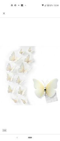 Motylki 3d. Dekoracja na ścianę