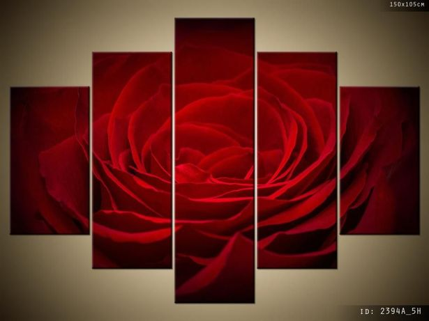 Róża dla ukochanej, Obraz na płótnie, Canvas, TRYPTYK, dużo wzorów