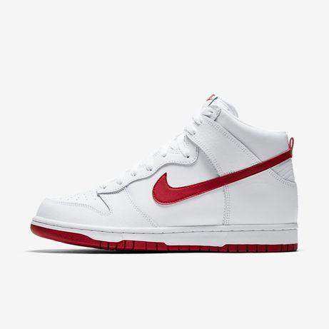 Nike - Sb Dunk High Branco e Vermelho