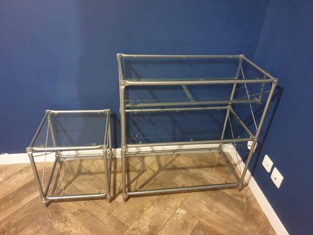 Szklana komoda i stolik IKEA