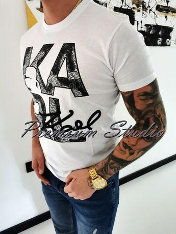 XXL / Karl Lagerfeld męska koszulka tshirt biała
