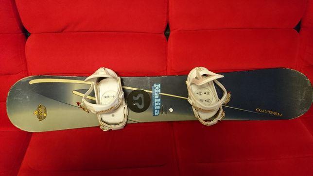 OXYGEN ZESTAW Damski Snowboard Deska + Wiązania + Pokrowiec
