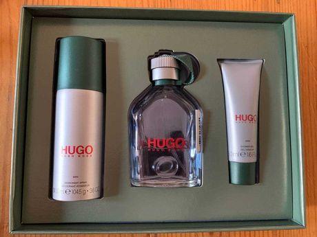 Conjunto de perfume + desodorizante + gel de banho Hugo Boss original.