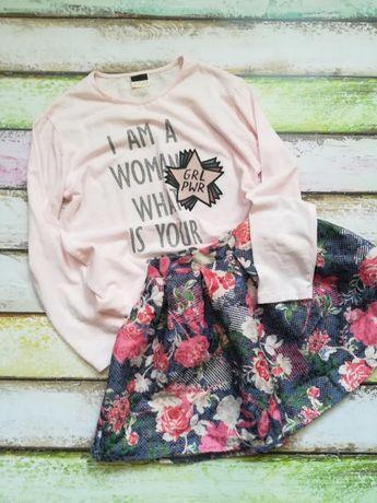 новая футболка лонгслив с надписью для девочки