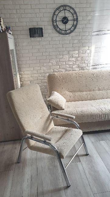 Wersalka rozkładana + 2 Fotele