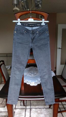 Spodnie Levis jeansy szare Modern Rise Skinny