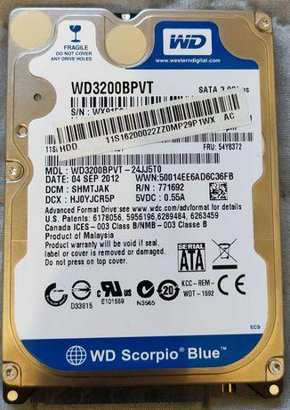 Dysk HDD 320GB WD Scorpio Blue do laptopa