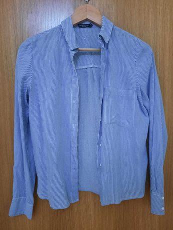 Camisa Azul Bershka