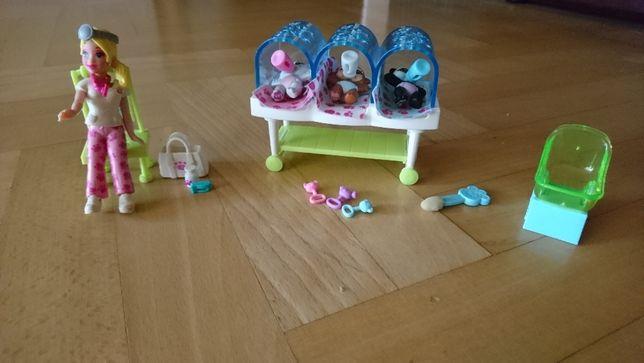 Mattel gabinet weterynarza z lalką i 3 zwierzakami