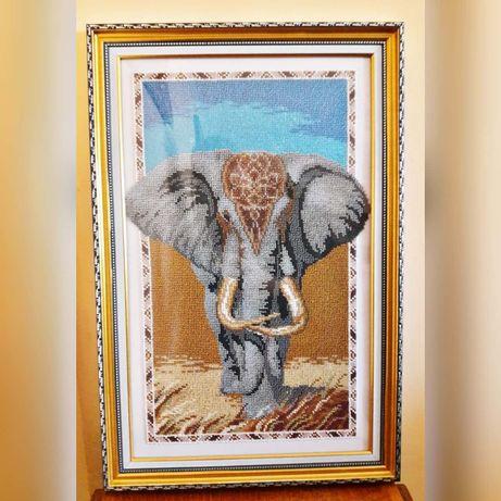 """Картина бісером """"Королівський слон""""/Картина бисером """"Королевский слон"""""""