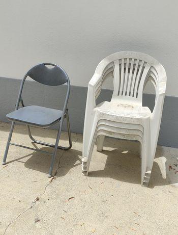 Cadeiras jardim usadas