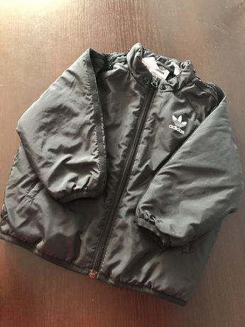 Детская курточка ветровка adidas черная 9-12 месяцев