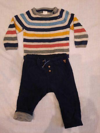 Осенний костюмчик костюм нарядный H&M кофта вельветовые штаны +подарок