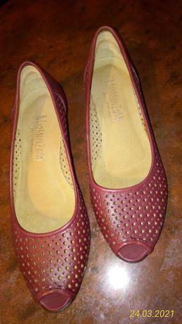 Buty czółenka sandały peep toe 39
