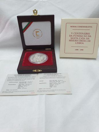 Moeda comemorativa de 1000 escudos prata 925/1000