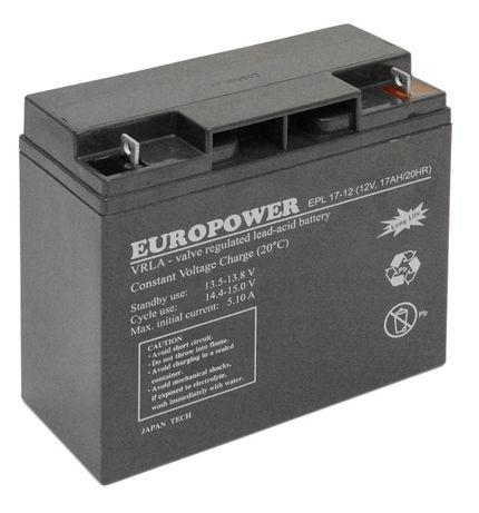 Europower EPL 17-12 (12V, 17Ah) Long Life VRLA