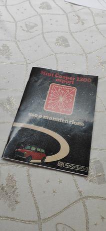 Cópia do manual de utilizador Innocenti Cooper 1300