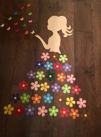 Dekoracje / Kwiatki papierowe 30 sztuk