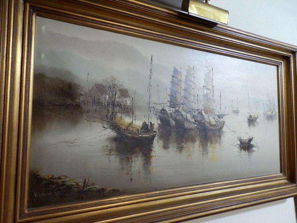 Óleo sobre tela, de Karvin Yip (139 cm x 79 cm)