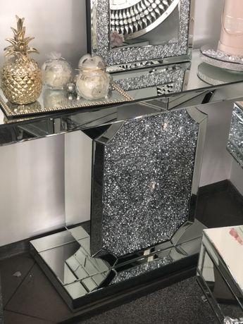 Konsola lustrzana Glamour kryształki